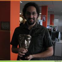 Kostas and the BAFTA Award at Lionhead Studios