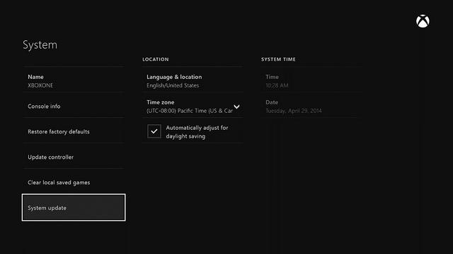 Έλεγχος για ενημερώσεις στο Xbox One (Μάιος 2014)