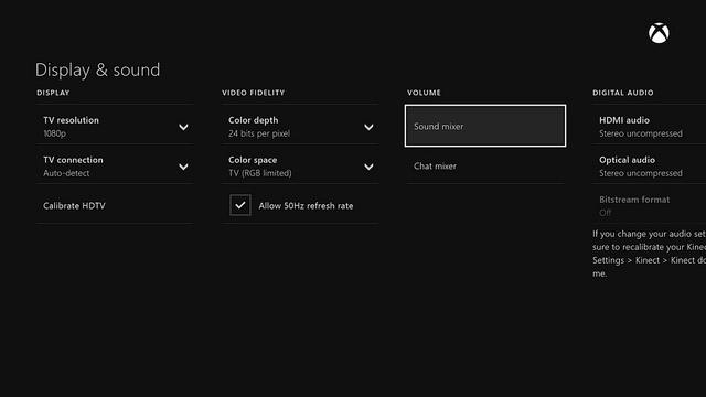 Νέες ρυθμίσεις για τον ήχο - Xbox One System Update Μαΐου 2014