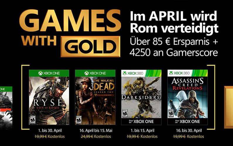 Games with Gold Απριλίου 2017