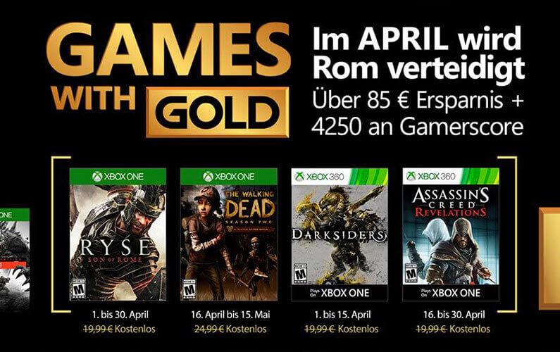 Τα Games with Gold του Απριλίου