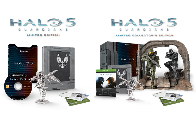 Halo 5 Limited and Limited Collector's Edition Boxshots