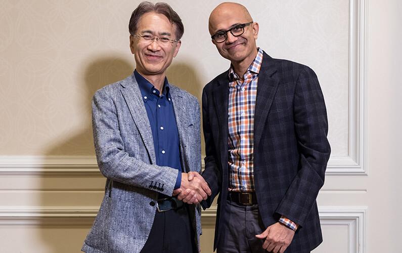 Microsoft Sony cloud agreement