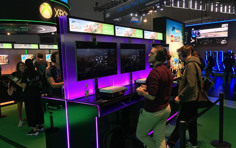 Το Xbox booth στην gamescom 2019