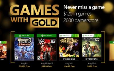 Games with Gold Αύγουστος 2016