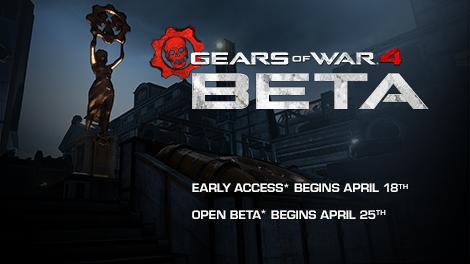 Ημερομηνία για την Gears of War 4 beta
