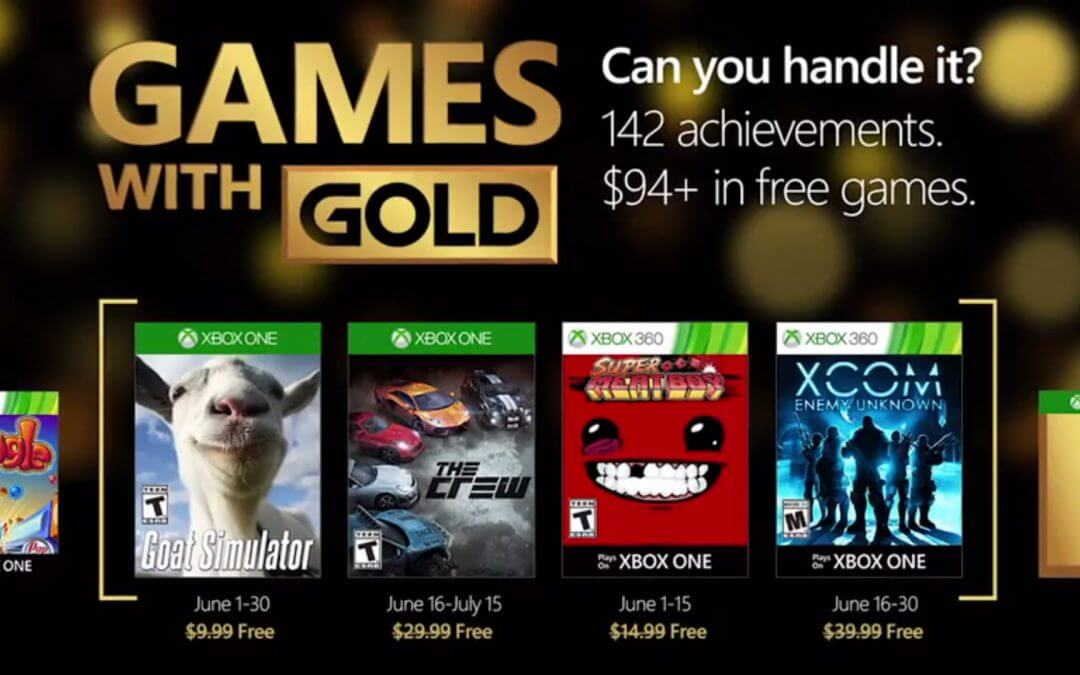 Games with Gold Ιούνιος 2016
