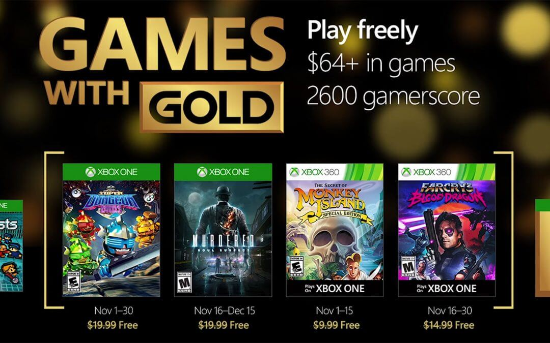Games with Gold, Νοέμβριος 2016
