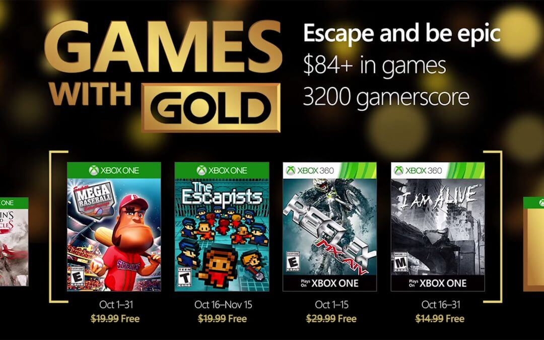 Games with Gold, Οκτώβριος 2016