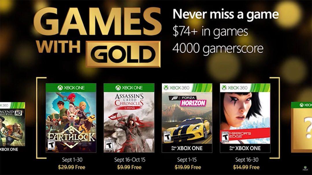 Games with Gold Σεπτέμβριος 2016
