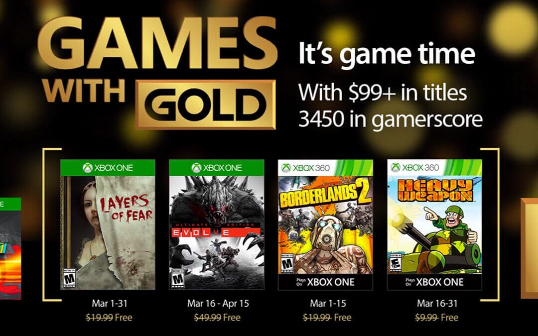 Games With Gold, Μάρτιος 2017