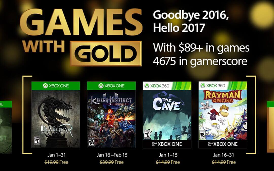 Games with Gold, Ιανουάριος 2017