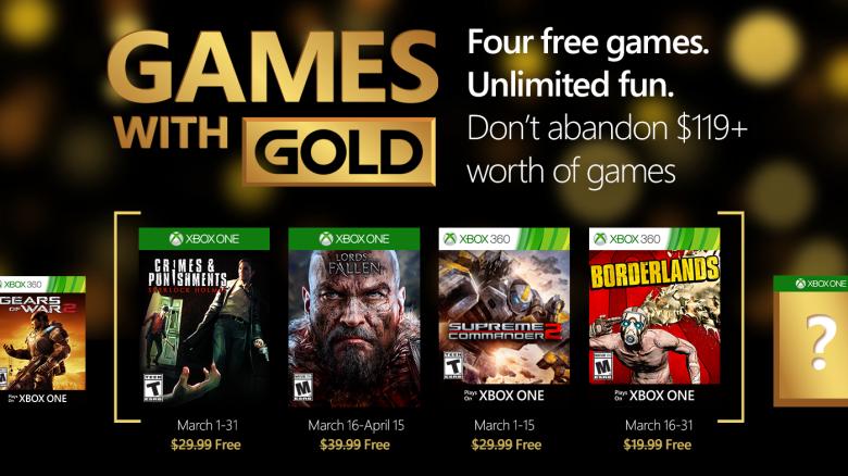 Τα Games with Gold Μαρτίου