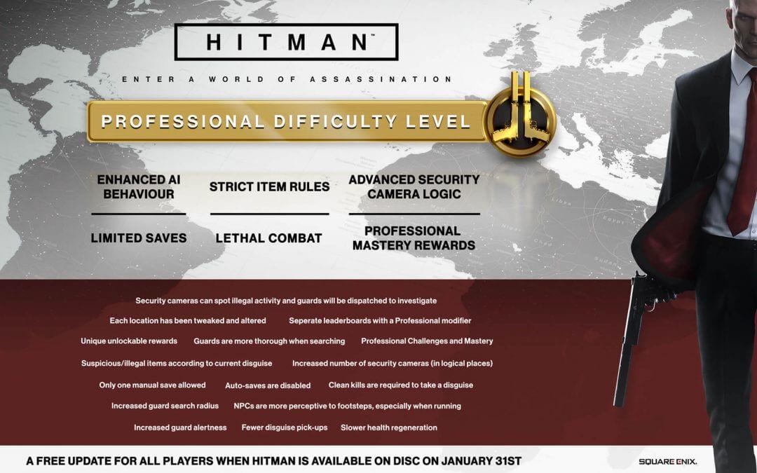 Νέο επίπεδο δυσκολίας στο Hitman