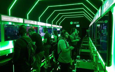 Ένας gamer στην gamescom 2017